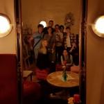 Familienfoto nach dem Brunch im Café Bilderbuch am Sonntag
